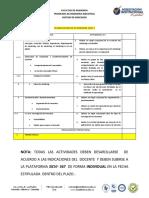 Planeacion Actividades 2019-1