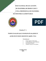 Estudio de mercado para la instalación de una planta de helados industriales