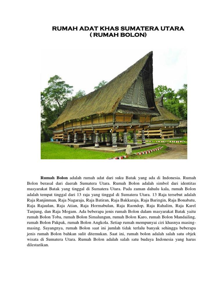Rumah Adat Khas Sumatera Utara