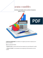 Concepto y Características Principales de Las Cuentas de Ingresos, Gastos y Costos