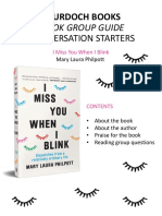 I Miss You When I Blink_Reading Group Guide
