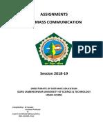 B.a. (Mass Communication) Final_24012019