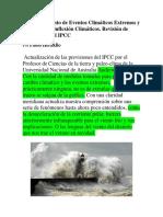 El Advenimiento de Eventos Climáticos Extremos y Los Puntos de Inflexión Climáticos. _Pablo Heraklio