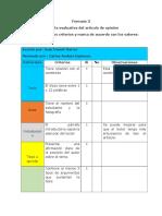 Evaluación Juan García