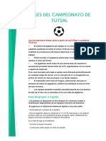 Bases Del Campeonato de Futsal