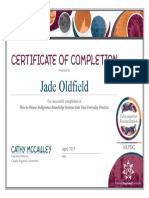 oldfield certificate
