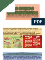 Tema 3 .-Las Ofertas Gastronómicas