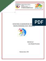 Pautas Para Elaborar El Informe de Practica Profesional Socio-productiva