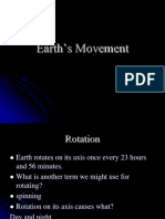 Earth Movement in Space