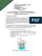 Laboratorio 2 - Qmc 023 - Calorímetría i - Determianción de Kcalm.