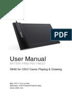 S640 Pen Tablet Instruction