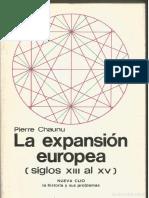 Chaunu - La Expansión Europea Siglos XIII al XV