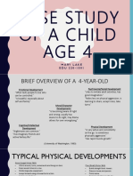 case study of a child age 4