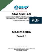 Latihan Usbn Matematika Paket