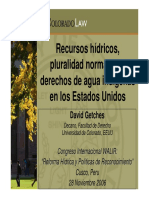 David Getches Recursos HÝdricos y Pluralidad Normatica en EE