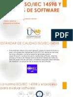 Norma ISO IEC 14598 y Pruebas de Software