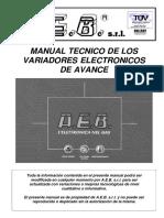 Manual de Aplicación de Variadores de Avance AEB