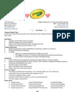pr crayola facts sheet