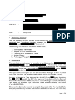 Memorandum for Contract Review