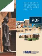 Programme Calendar 2017-18