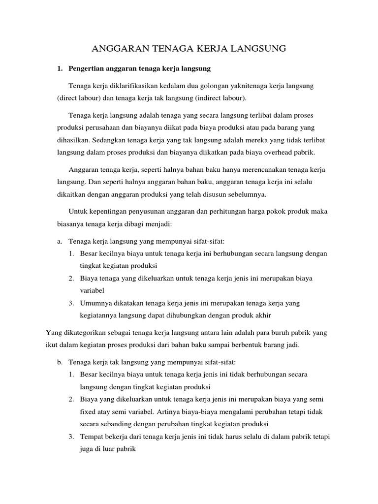 17++ Pertanyaan tentang anggaran tenaga kerja info