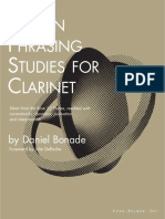 16 Phrasing Studies for Clarinet
