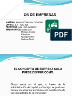 Tipos de Empresas Acosta,Morales,Pilca,Quinga,Sislema