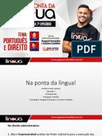 Episódio 7 - português e direito