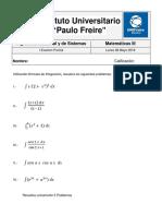I Examen Parcial Matematicas 3