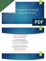 Figure of Speech Analysis of the Vacuum Poem