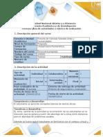 Guía de actividades y rúbrica de evaluación- Tarea 1- Desarrollar actividad de exploración del curso