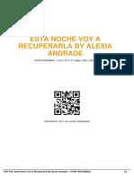 Esta Noche Voy a Recuperarla by Alexia Andrade