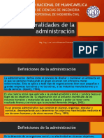 Generalidades de La Administración