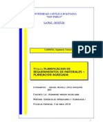 Planificacion de los requerimientos de los materiales y Planeación Agregada