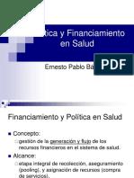Financiamiento y políticas en salud
