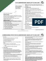 SP0407 Commissioning Tests for HV UG Cables
