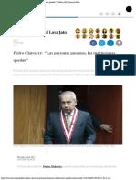 Pedro Chávarry Las Personas Pasamos, Las Instituciones Quedan Política El Com