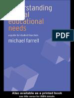 Understanding educational needs
