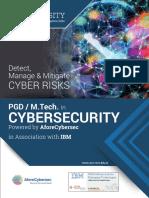 REVA University PGD MTech in Cyber Security Brochure Final