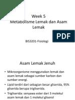 Week 5 Lipid Metabolism