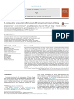 A Comparative Assessment of Resource Efficiency in Petroleum Refining