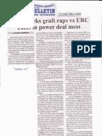 Manila Bulletin, May 9, 2019, Zarate seeks graft raps vs ERC execs in power deal mess.pdf