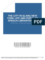 the city in slang new york life and popular speech librarydoc84