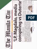 Manila Times, May 9, 2019, 'LP, Magdalo, media conspiring vs Duterte.pdf