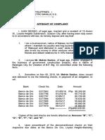Draft Complaint Affidavit