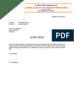 ICCSII Travel Grant