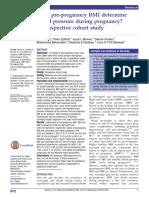 Bmi Dengan Hipertensi Gestasional Journal