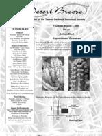 August 2003 Desert Breeze Newsletter, Tucson Cactus & Succulent Society