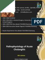 Dr Kiki Lukman Patofisiologi Acute Cholangitis