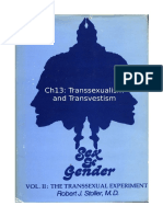 Stoller Ch13 - The Transsexual Experiment - Chapter 13 Transsexualism and Transvestitism